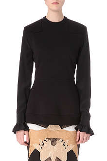 GIVENCHY Ruffled-cuff top