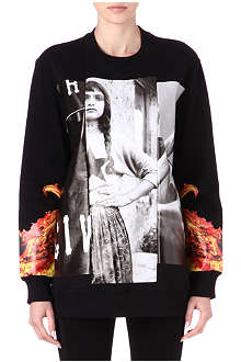 GIVENCHY Gypsy baseball print sweatshirt