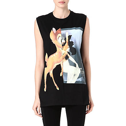 GIVENCHY Sleeveless Bambi t-shirt (Multi