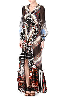 GIVENCHY Ruffled paisley maxi dress