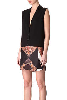 GIVENCHY Paisley sleeveless cardigan dress