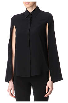 GIVENCHY Split-sleeves silk blouse