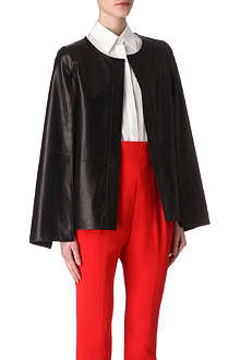 GIVENCHY Split cape-sleeve leather jacket