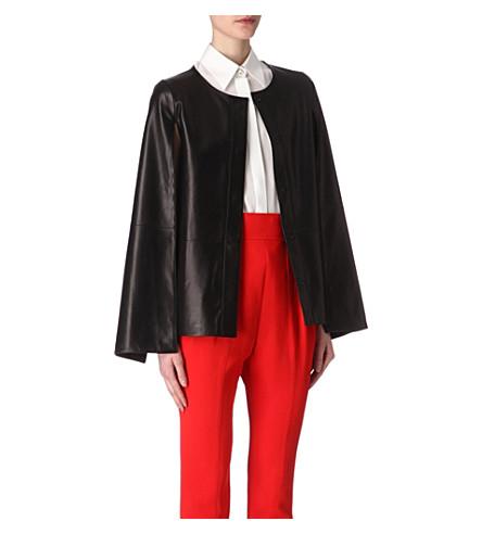 GIVENCHY Split cape-sleeve leather jacket (Black