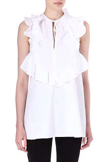 GIVENCHY Ruffled sleeveless top