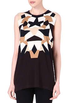 GIVENCHY Geometric-print top