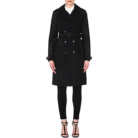 GIVENCHY Waffle-finish trench coat (Black