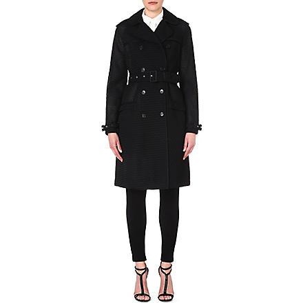 GIVENCHY Waffle-finish trench coat (Black