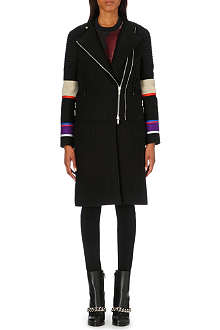 GIVENCHY Striped biker coat