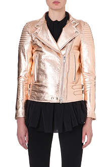 GIVENCHY Metallic leather biker jacket