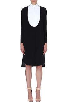 GIVENCHY Monochrome tuxedo dress