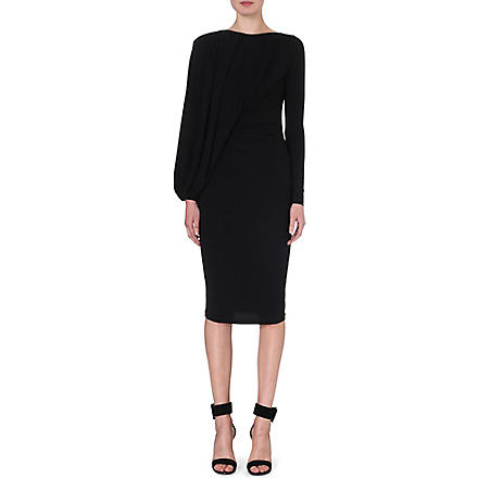 GIVENCHY Draped batwing dress (Black
