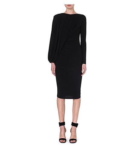 GIVENCHY Draped batwing dress (Black