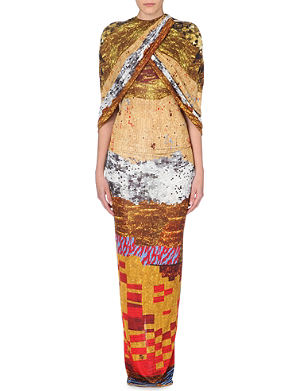 GIVENCHY Tribal-print jersey gown