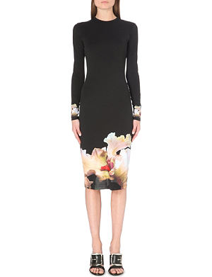 GIVENCHY Orchid-print jersey dress