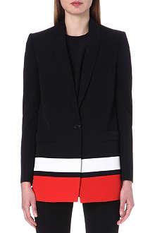 GIVENCHY Stripe detail tuxedo jacket