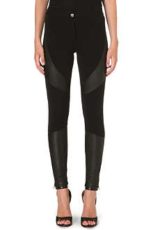 GIVENCHY Leather-panel trousers