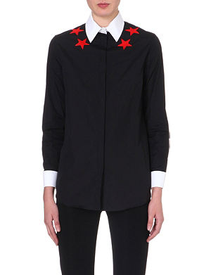 GIVENCHY Star-detail cotton shirt