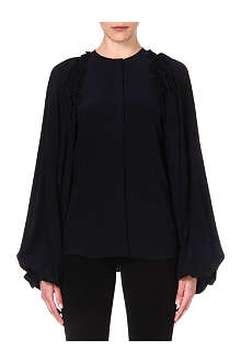 GIVENCHY Balloon-sleeve silk shirt