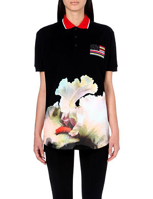 GIVENCHY Orchid-print polo shirt