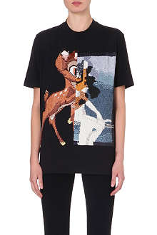 GIVENCHY Sequinned Bambi cotton t-shirt