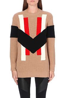 GIVENCHY Multi-patch wool-blend jumper