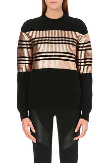GIVENCHY Metallic coated knitted jumper