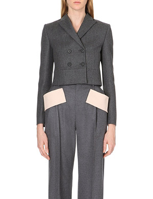 GIVENCHY Cropped wool-blend jacket