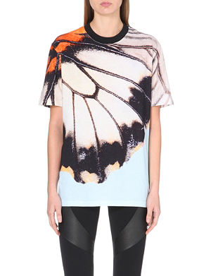 GIVENCHY Butterfly-print cotton-jersey t-shirt