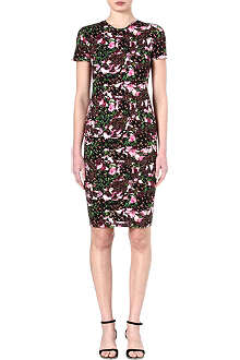 GIVENCHY Floral-print stretch-jersey dress
