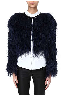 GIVENCHY Marabu ostrich feather bolero