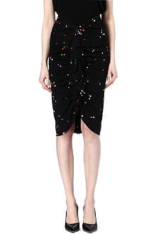 GIVENCHY Dot ruched skirt