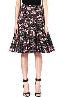 GIVENCHY Abstract floral skirt