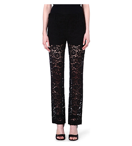 GIVENCHY Lace trousers (Black