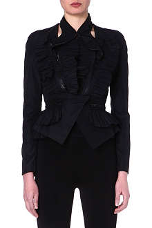 GIVENCHY Ruffled zip-detailed jacket