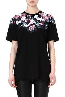 GIVENCHY Floral trim t-shirt