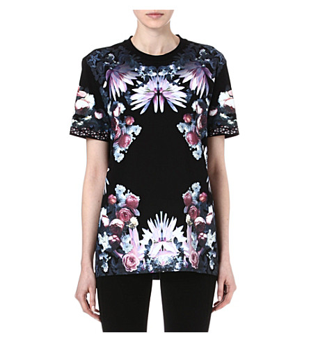 GIVENCHY Floral t-shirt (Black