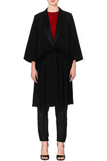 GIVENCHY Pleated silk coat