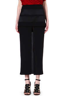 GIVENCHY Split-front silk skirt