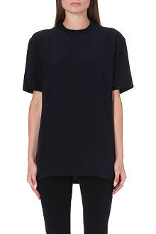 GIVENCHY Oversized silk t-shirt