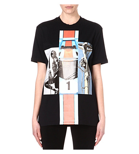GIVENCHY Formula 1 cotton-jersey t-shirt (Black