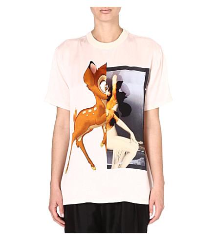 GIVENCHY Bambi print silk t-shirt (Pink