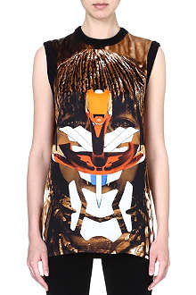GIVENCHY Tribal silk top