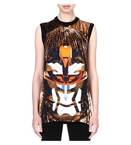 GIVENCHY Tribal silk top (Multi