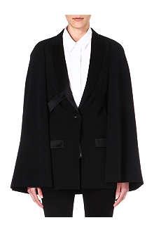 GIVENCHY Cape-sleeved tuxedo jacket