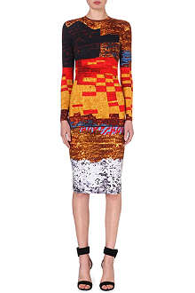 GIVENCHY Tribal-print jersey dress