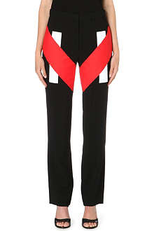 GIVENCHY Patchwork-detail straight-leg trousers