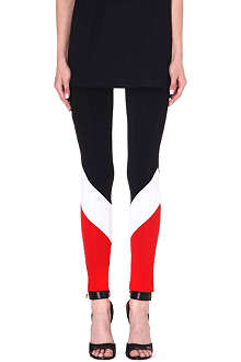 GIVENCHY Striped stretch-jersey leggings