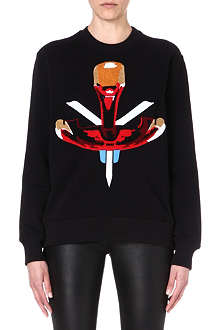 GIVENCHY African appliqué sweatshirt