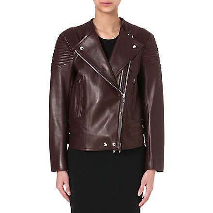 GIVENCHY Leather biker jacket (Burgandy